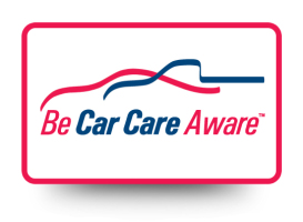 Be Car Care Aware Door Decal