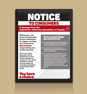 Notice to Consumers